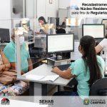 Recadastramento das famílias do Núcleo Residencial 21 de Abril para fins de Regularização Fundiária